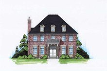 European Exterior - Front Elevation Plan #5-373