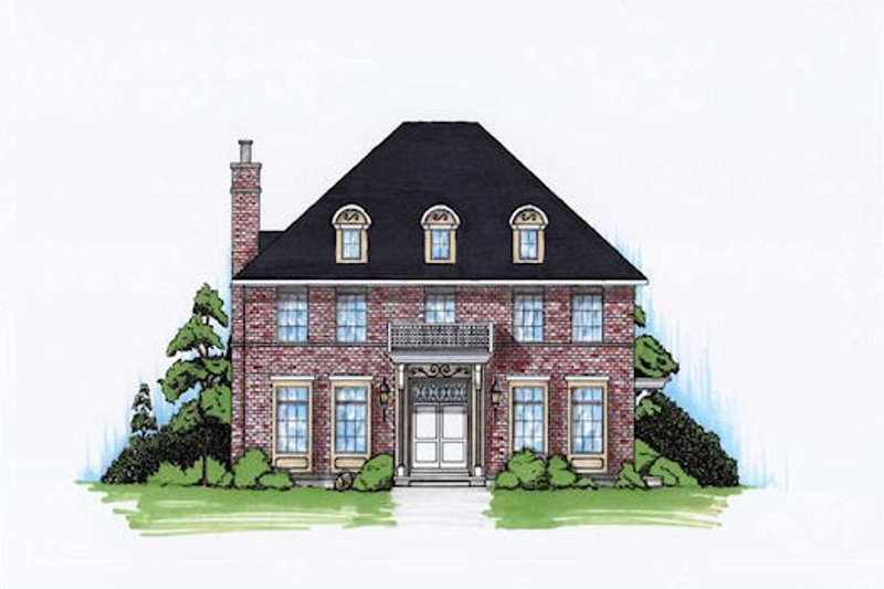 Home Plan - European Exterior - Front Elevation Plan #5-373
