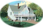 Country Style House Plan - 2 Beds 2 Baths 1280 Sq/Ft Plan #81-692 Exterior - Front Elevation