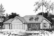 Country Style House Plan - 3 Beds 2.5 Baths 1635 Sq/Ft Plan #22-471 Exterior - Other Elevation