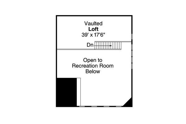 Country Floor Plan - Upper Floor Plan Plan #124-991