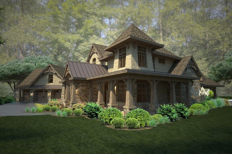 Craftsman Exterior - Other Elevation Plan #120-178 - Houseplans.com
