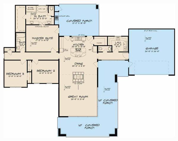 Contemporary Floor Plan - Main Floor Plan Plan #923-53