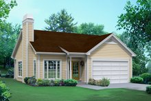 Ranch Exterior - Front Elevation Plan #57-612