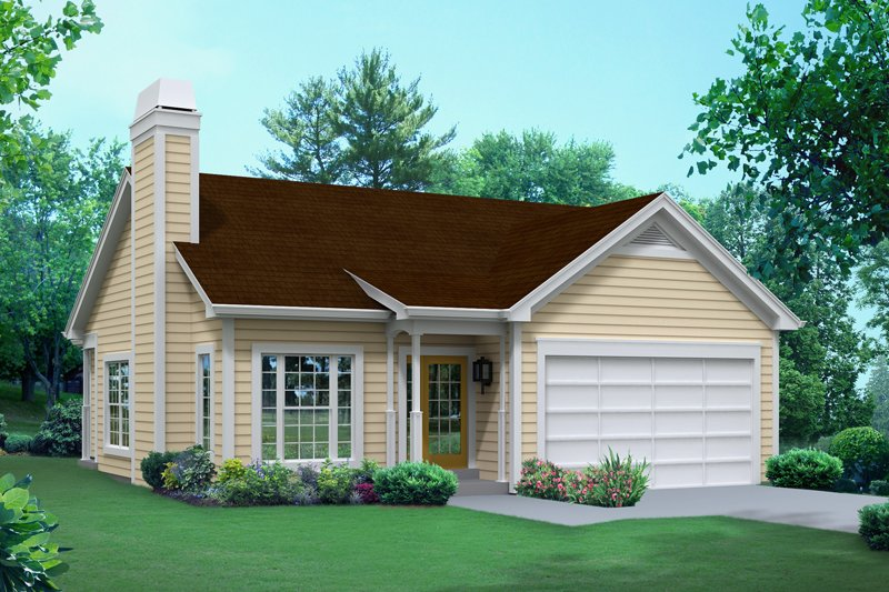 Ranch Exterior - Front Elevation Plan #57-612 - Houseplans.com