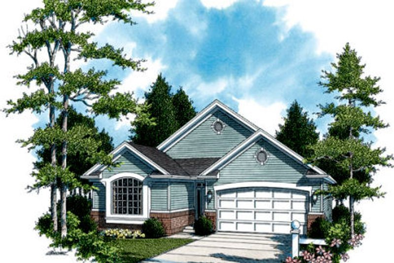 Traditional Exterior - Front Elevation Plan #48-285