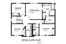 Craftsman Floor Plan - Upper Floor Plan Plan #320-490