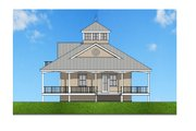 Southern Style House Plan - 2 Beds 2 Baths 1840 Sq/Ft Plan #481-12 Exterior - Front Elevation