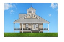 Southern Exterior - Front Elevation Plan #481-12
