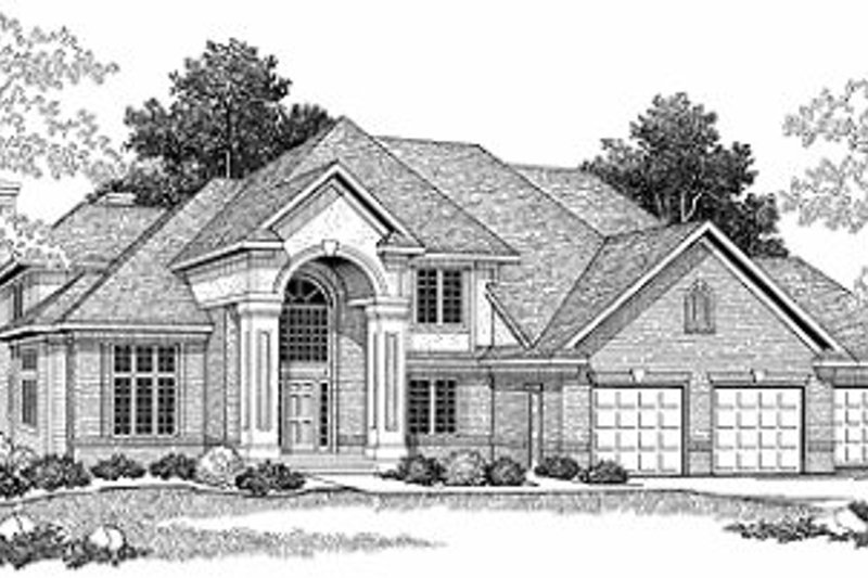Dream House Plan - European Exterior - Front Elevation Plan #70-505