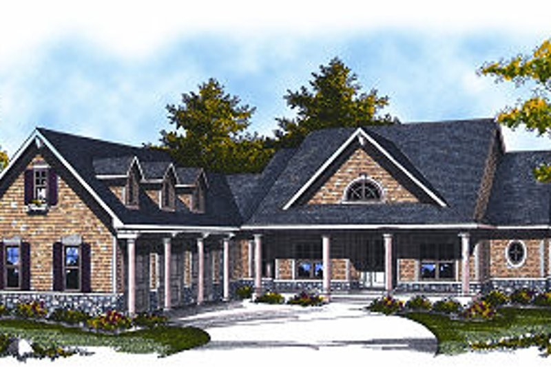 Home Plan - Farmhouse Exterior - Front Elevation Plan #70-878