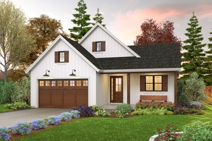 Dream House Plan - Farmhouse Exterior - Front Elevation Plan #48-1031