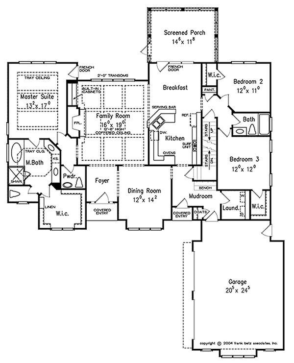 European Floor Plan - Main Floor Plan Plan #927-39