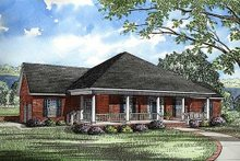 House Plan Design - Traditional Exterior - Front Elevation Plan #17-168
