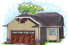 Dream House Plan - Ranch Exterior - Rear Elevation Plan #70-1024