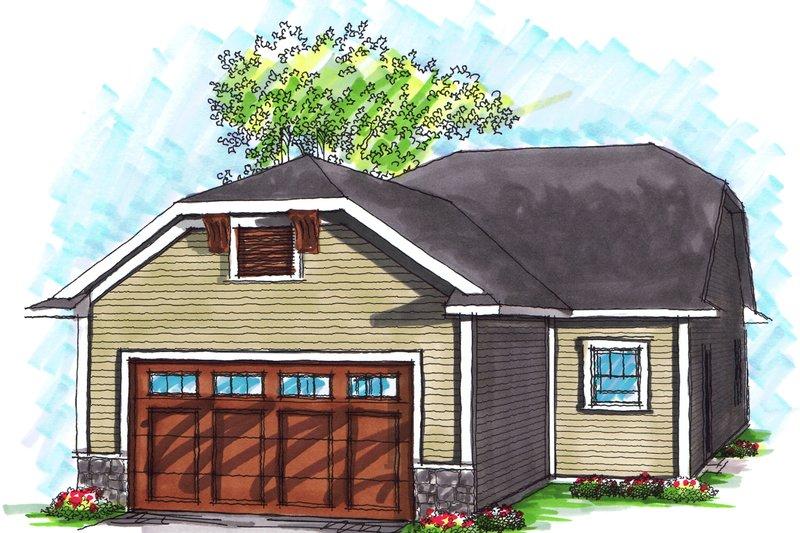 Ranch Exterior - Rear Elevation Plan #70-1024 - Houseplans.com