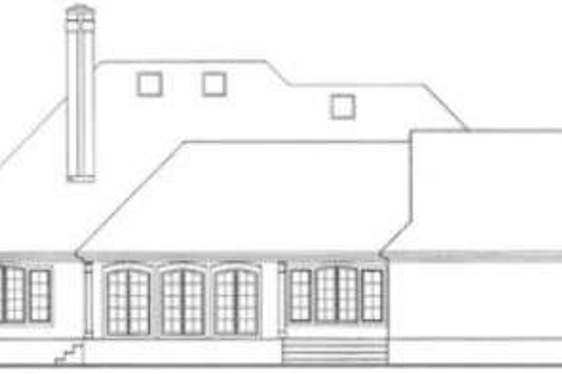 European Exterior - Rear Elevation Plan #406-181 - Houseplans.com