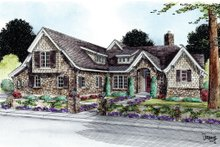 Home Plan - European Exterior - Front Elevation Plan #20-2172