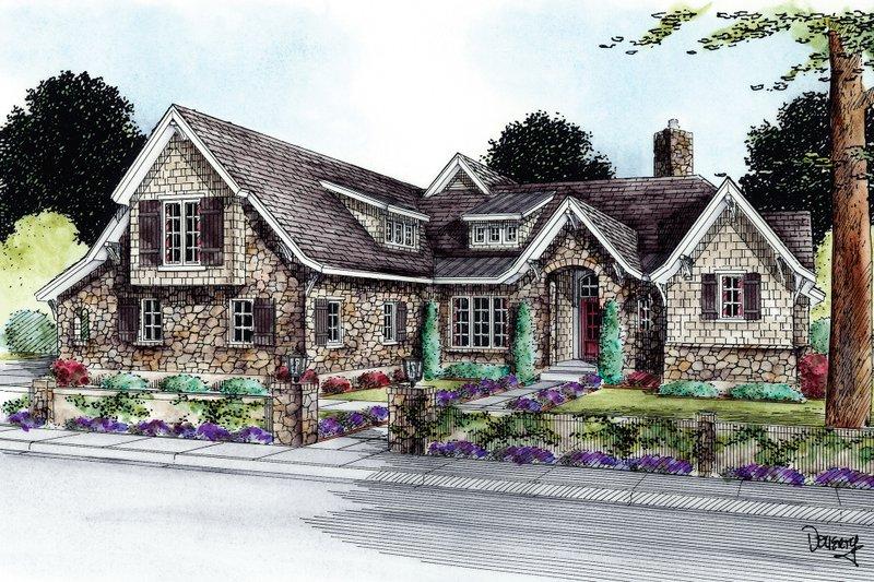 Dream House Plan - European Exterior - Front Elevation Plan #20-2172