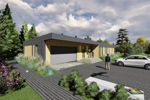 Modern Exterior - Front Elevation Plan #549-14