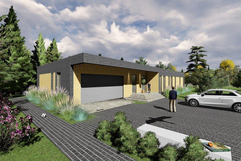 Modern Exterior - Front Elevation Plan #549-14