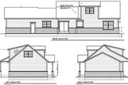 Colonial Style House Plan - 3 Beds 2 Baths 1526 Sq/Ft Plan #100-407 Exterior - Rear Elevation