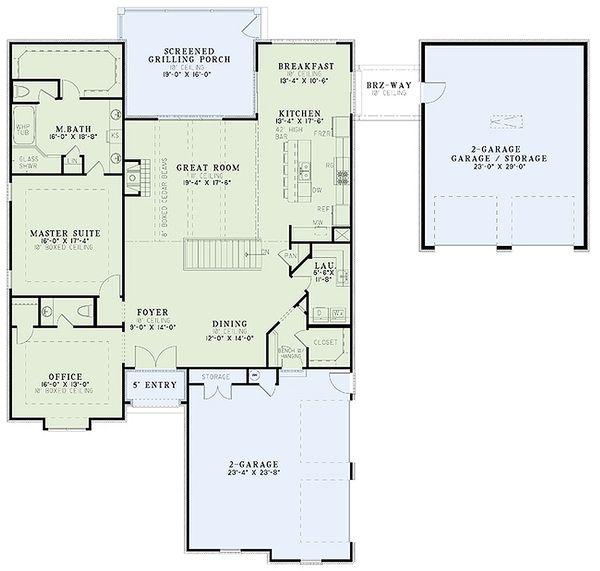 European Floor Plan - Main Floor Plan Plan #17-2479
