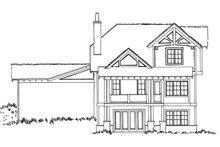 Country Exterior - Rear Elevation Plan #942-47
