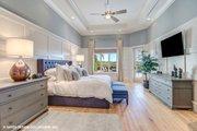 Mediterranean Style House Plan - 3 Beds 3.5 Baths 3700 Sq/Ft Plan #930-511 Interior - Master Bedroom