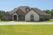 European Style House Plan - 3 Beds 2.5 Baths 3090 Sq/Ft Plan #65-544 Exterior - Front Elevation