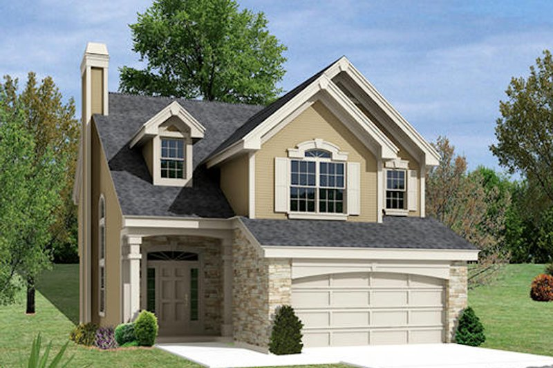 Traditional Style House Plan - 3 Beds 2.5 Baths 2158 Sq/Ft Plan #57-332 Exterior - Front Elevation