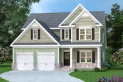 Traditional Style House Plan - 4 Beds 2.5 Baths 3017 Sq/Ft Plan #419-290 Exterior - Front Elevation