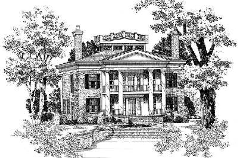 Classical Exterior - Front Elevation Plan #72-188