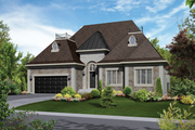 European Style House Plan - 3 Beds 2 Baths 1425 Sq/Ft Plan #25-4333 Exterior - Front Elevation