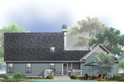 Country Style House Plan - 3 Beds 2 Baths 1246 Sq/Ft Plan #929-47 Exterior - Rear Elevation