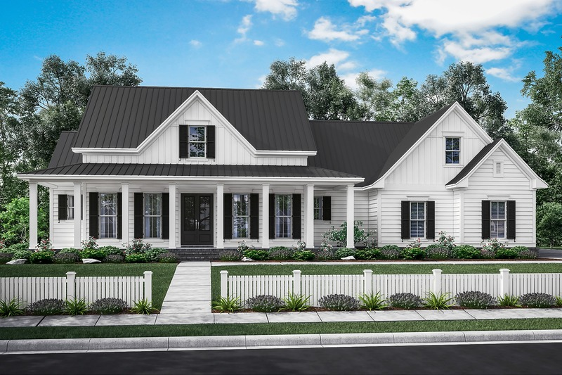 Farmhouse Style House Plan - 3 Beds 2.5 Baths 2282 Sq/Ft Plan #430-160 Exterior - Front Elevation