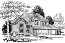 Traditional Exterior - Front Elevation Plan #70-434