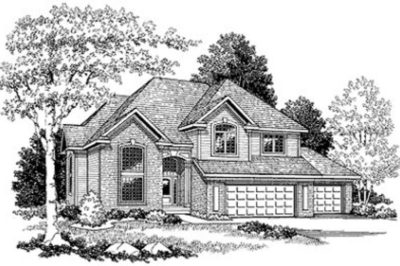 Dream House Plan - Traditional Exterior - Front Elevation Plan #70-434