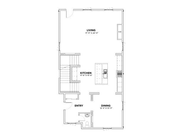 Modern Floor Plan - Main Floor Plan Plan #1076-3