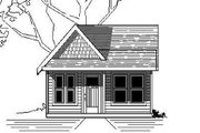 Cottage Style House Plan - 1 Beds 1 Baths 292 Sq/Ft Plan #423-43 Exterior - Front Elevation