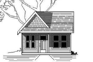 Cottage Exterior - Front Elevation Plan #423-43