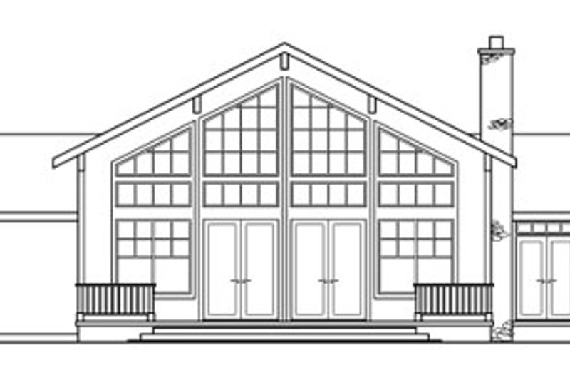 Ranch Exterior - Rear Elevation Plan #124-218 - Houseplans.com