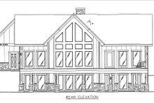 House Design - Craftsman Exterior - Rear Elevation Plan #117-891
