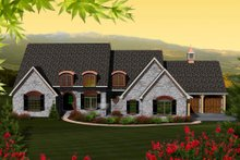 Dream House Plan - European Exterior - Front Elevation Plan #70-1151