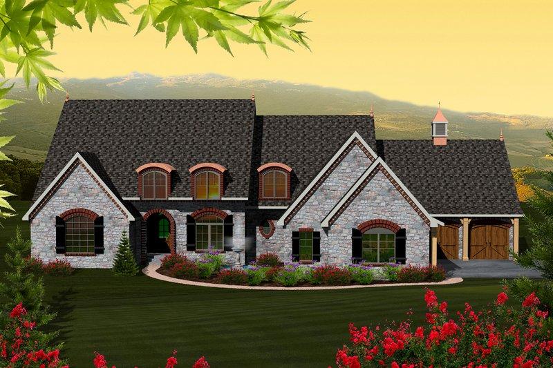 European Exterior - Front Elevation Plan #70-1151 - Houseplans.com