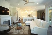 European Style House Plan - 4 Beds 4.5 Baths 6554 Sq/Ft Plan #923-69 Interior - Family Room