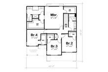 Traditional Floor Plan - Upper Floor Plan Plan #20-1769