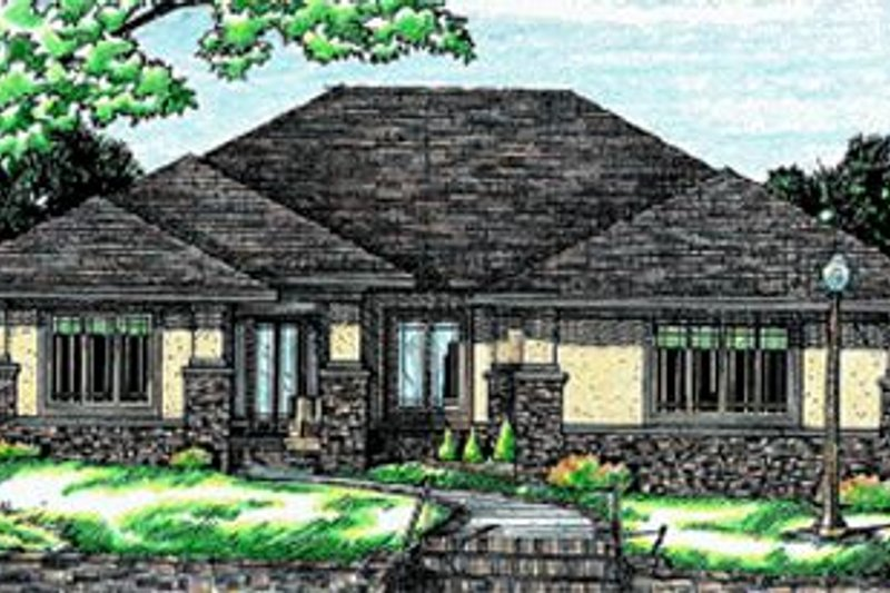 European Exterior - Front Elevation Plan #20-743