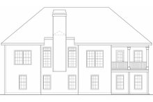 Home Plan - Traditional Exterior - Rear Elevation Plan #419-179