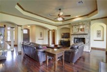 Home Plan - Traditional Interior - Family Room Plan #80-173